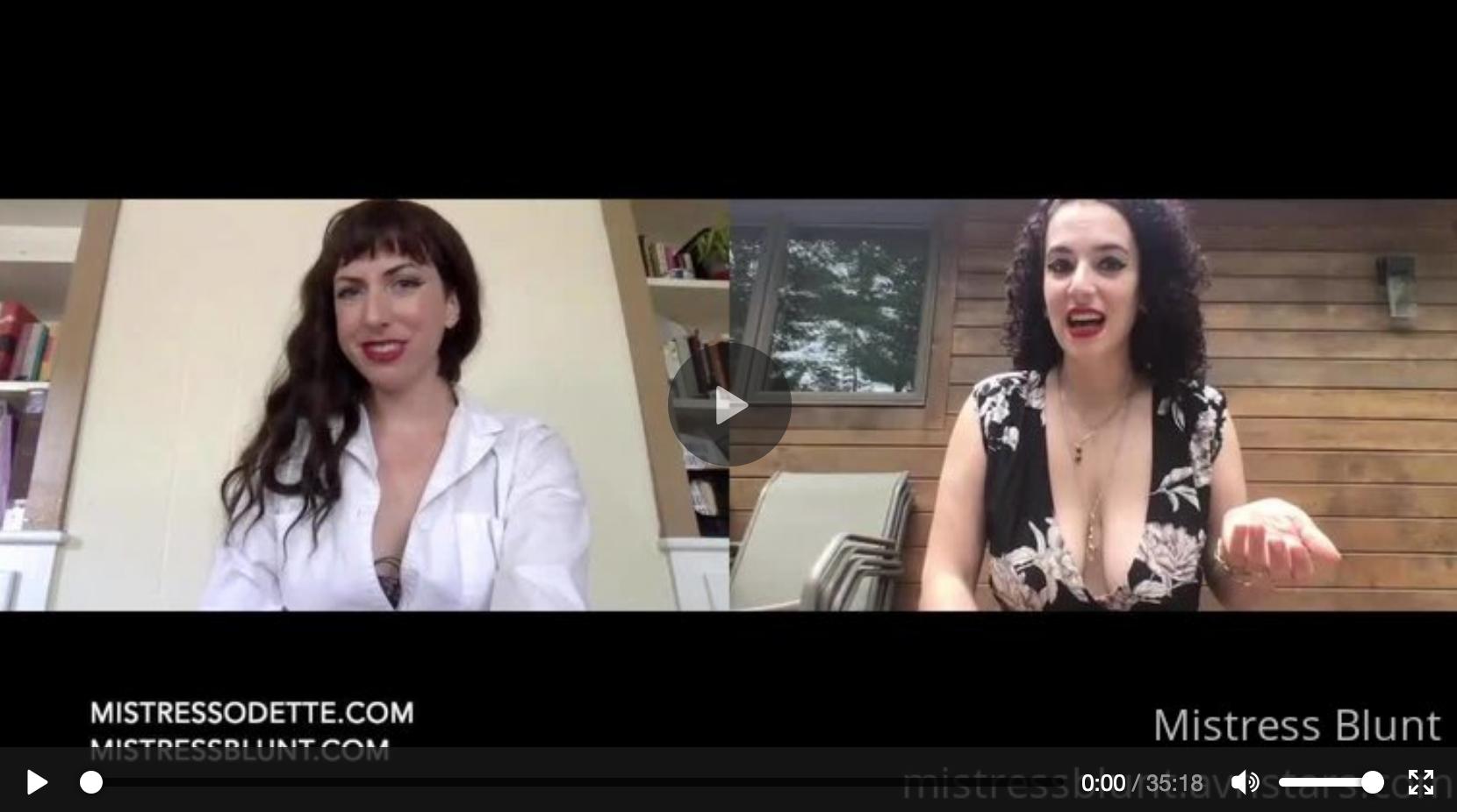 Mistress Blunt interviews Mistress Odette about Medical Fetishes