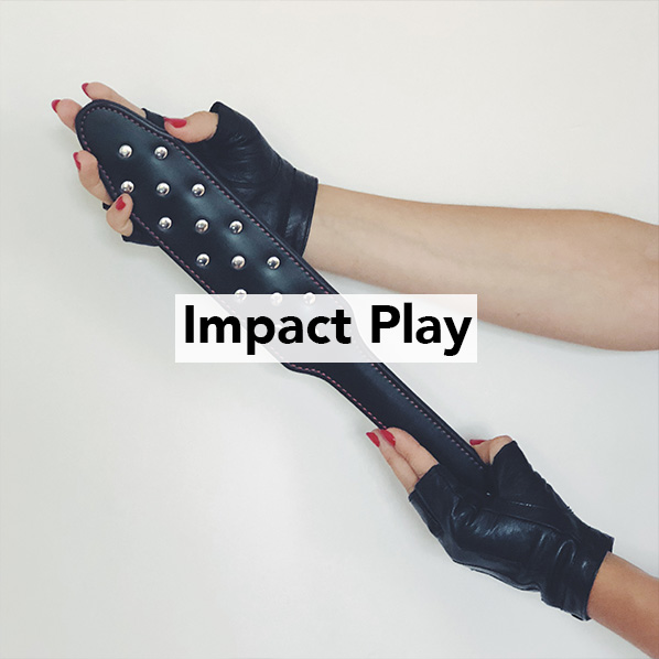 Mistress Blunt leather impact play