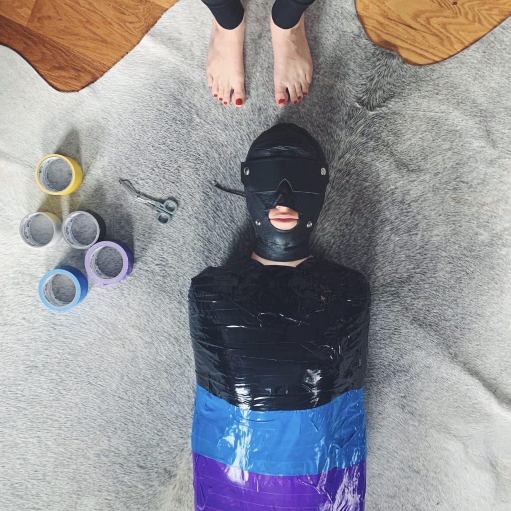 Mistress Blunt NYC Femdom Dominatrix Ritual Kink Bondage Mummifcation